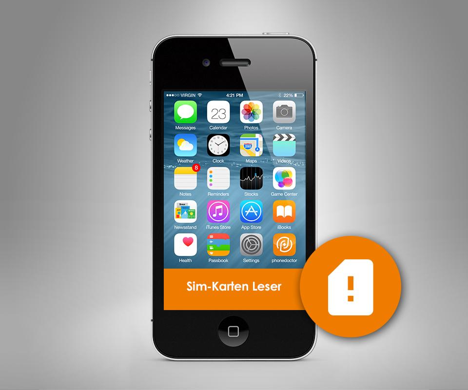 apple iphone 4 4s sim karten leser reparaur. Black Bedroom Furniture Sets. Home Design Ideas