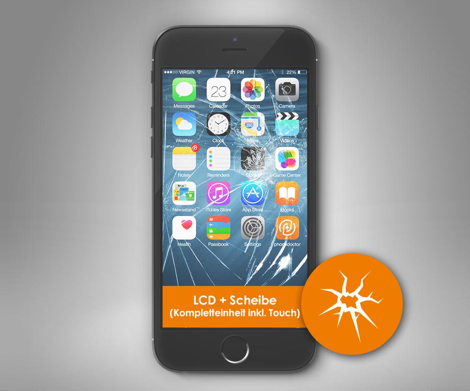 apple iphone 6s plus display reparatur inklusive lcd austausch. Black Bedroom Furniture Sets. Home Design Ideas