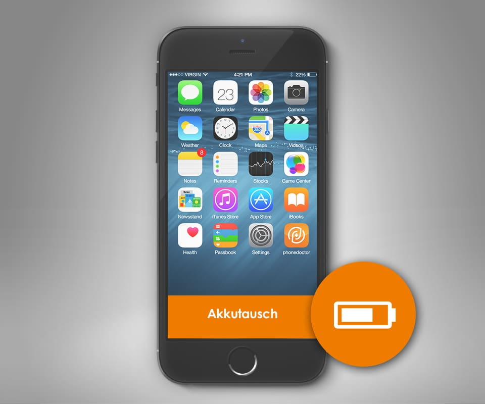 iphone 7 akku reparatur akku austausch bei phonedoctor. Black Bedroom Furniture Sets. Home Design Ideas